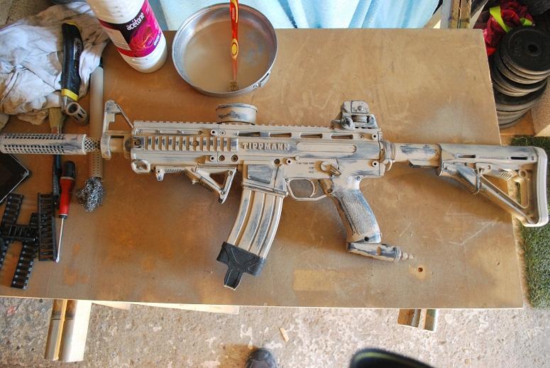 Gun paint job « Spécial Opération » Tippmann Phénom custo M4A1
