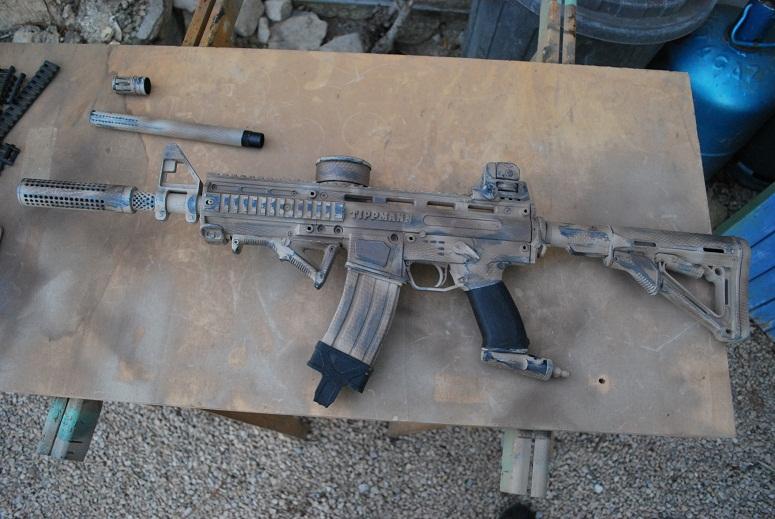 Gun paint job « Spécial Opération » Tippmann Phénom custo M4A1 PART 2